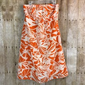American Eagle Hawaiian Print Strapless Dress